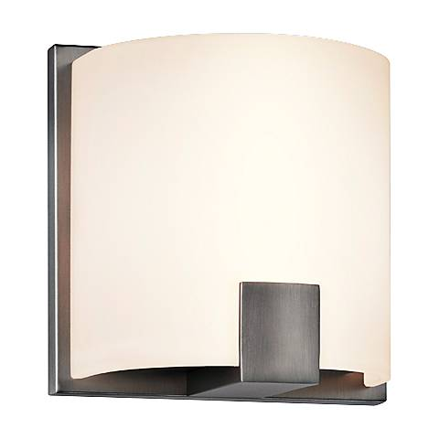 "Sonneman C-Shell 5"" High Satin Nickel LED Wall Sconce"