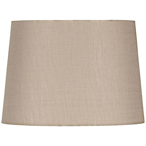 Beige Oval Hardback Linen Shade 12/9x14/10x10 (Spider)