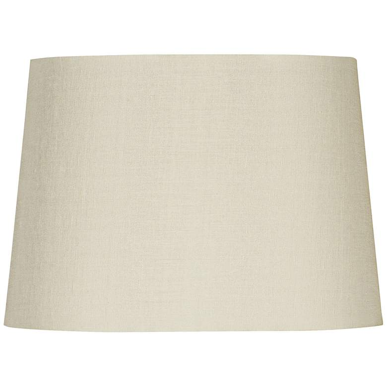 Eggshell Oval Hardback Linen Shade 12/9x14/10x10 (Spider)