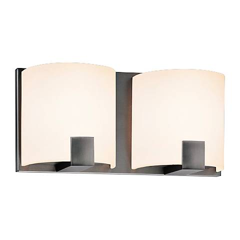 "Sonneman C-Shell 5"" High 2-Light Satin Nickel LED Sconce"