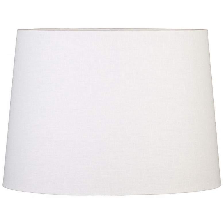 Off-White Oval Hardback Shade 8/5.25x10/6.25x8 (Spider)