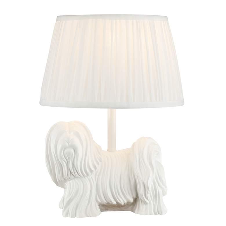 Lhasa Apso White Table Lamp
