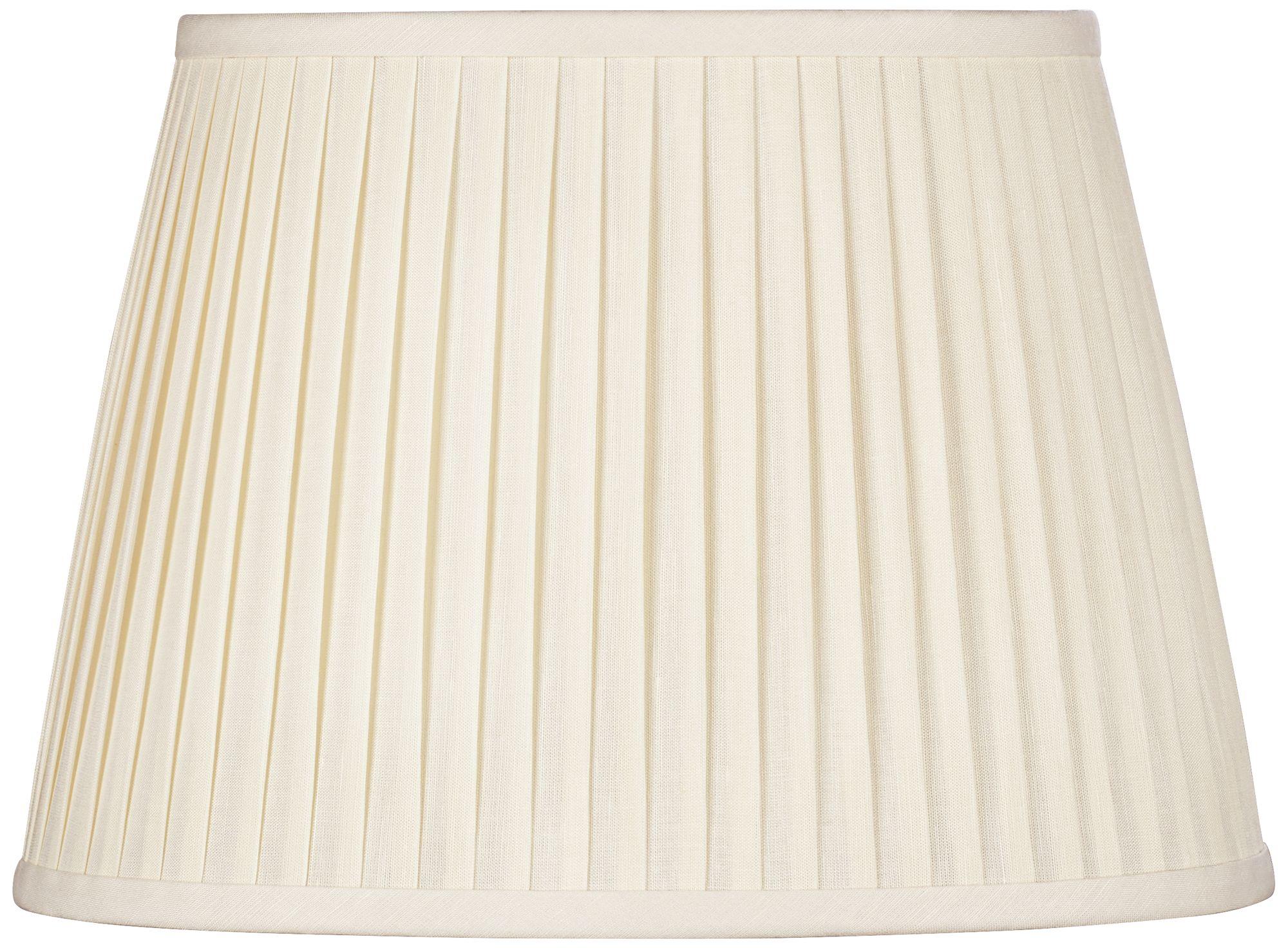 Eggshell Oval Softback Linen Shade 9/5x12/8x8 (Spider)