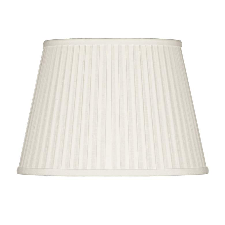 Off-White Oval Softback Linen Shade 14/10x18/14x12 (Spider)