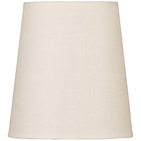 Eggshell Drum Hardback Linen Shade 3x4x4.5 (Clip-On)
