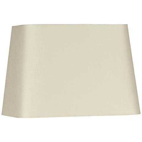 Eggshell Rectangular Linen Shade 10/6x12/8x9 (Spider)