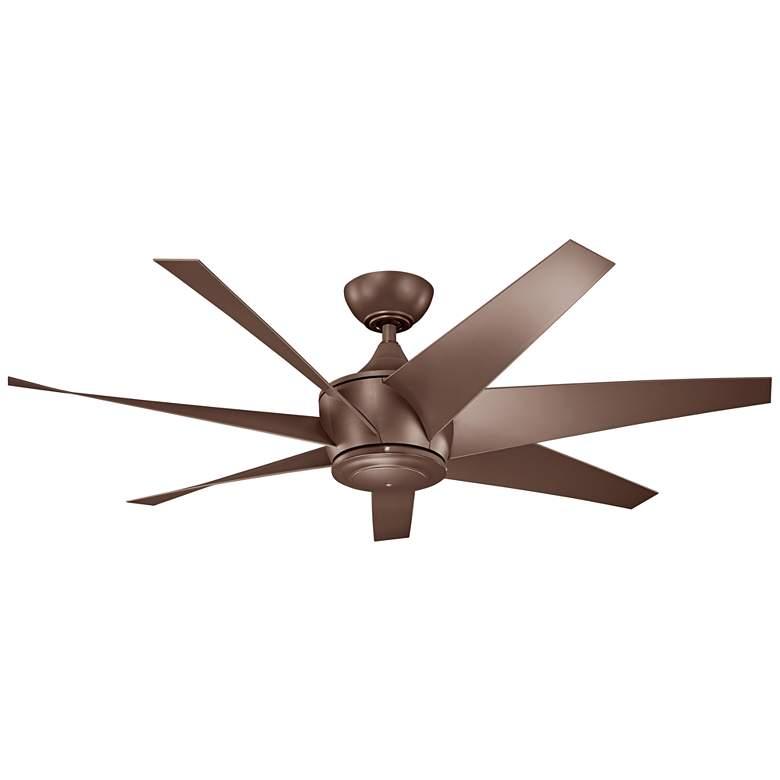 "54"" Kichler Lehr II Climates Mocha Outdoor Ceiling Fan"