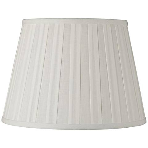 Off-White Euro Boxed Pleat Linen Shade 8x12x8 (Spider)