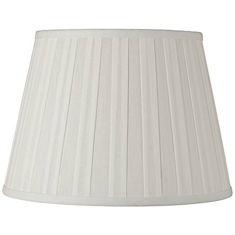 Off-White Euro Box Pleat Linen Shade 10x14x10 (Spider)