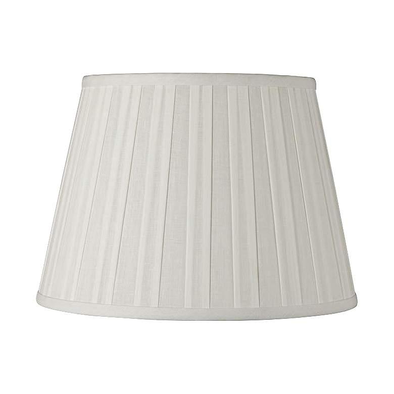 Off-White Euro Box Pleat Linen Shade 10x16x10 (Spider)