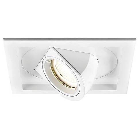 WAC Tesla LED Single Floodlight Recessed Trim with Housing