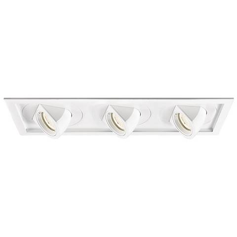 WAC Tesla LED Triple Floodlight Recessed Trim with Housing