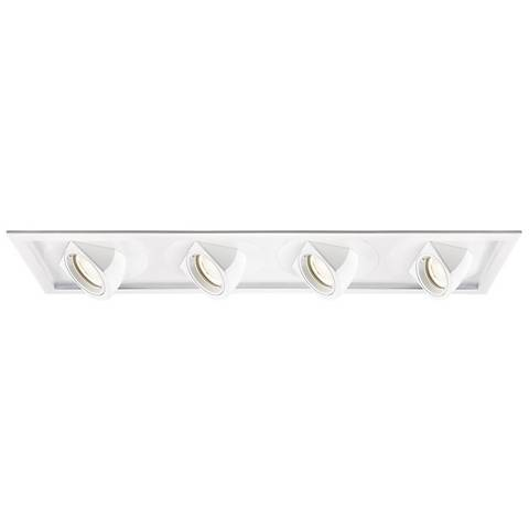 WAC Tesla LED Quad Spotlight Recessed Trim with Housing