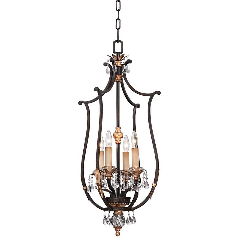 "Metropolitan Bella Cristallo 17"" Wide Bronze Pendant Light"