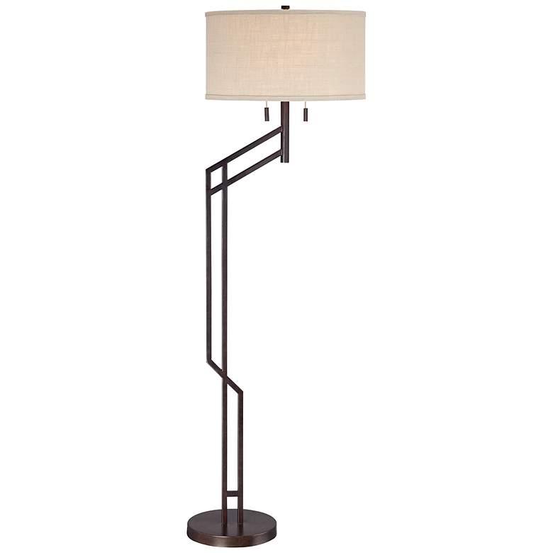 Possini Euro Tyler Angular Bronze Floor Lamp