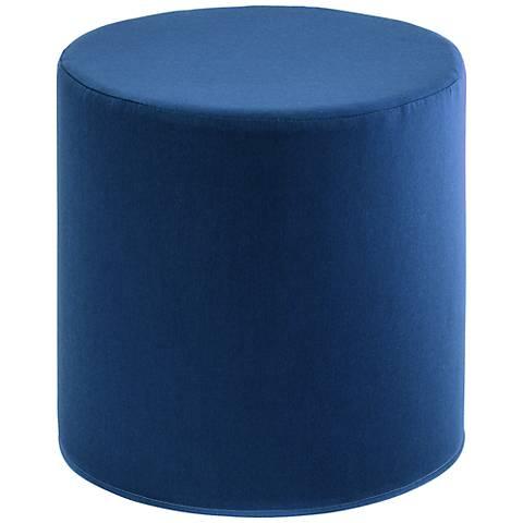 Sunbrella Sapphire Indoor/Outdoor Cylinder Pouf Ottoman