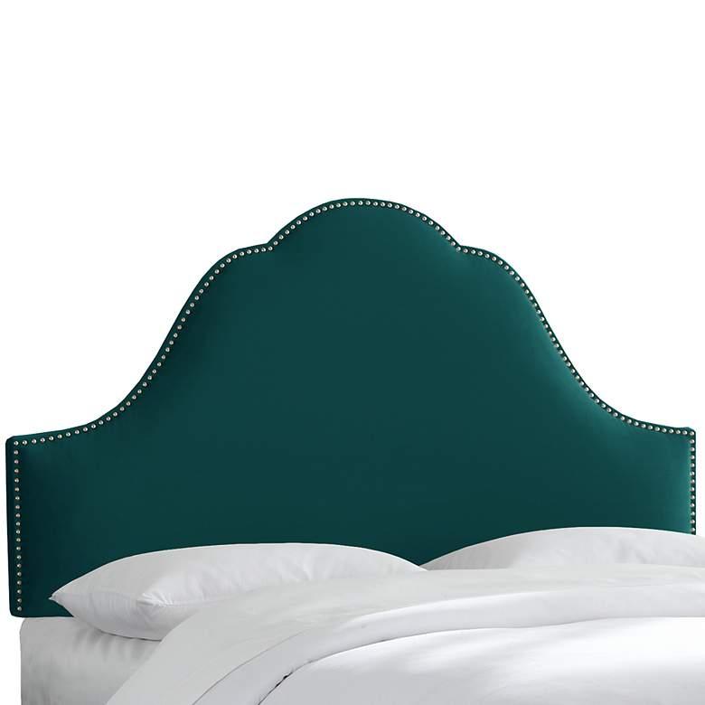 Mystere Peacock High-Arch Queen Headboard