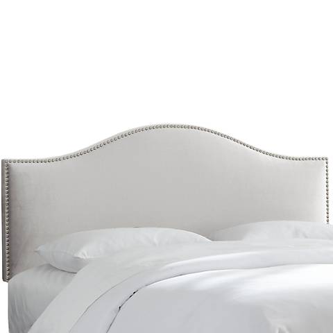 Mystere Dove Arched Headboard