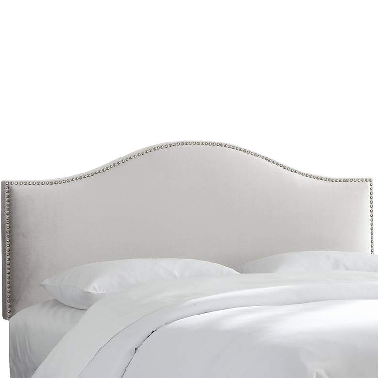 Mystere Dove Arched Queen Headboard