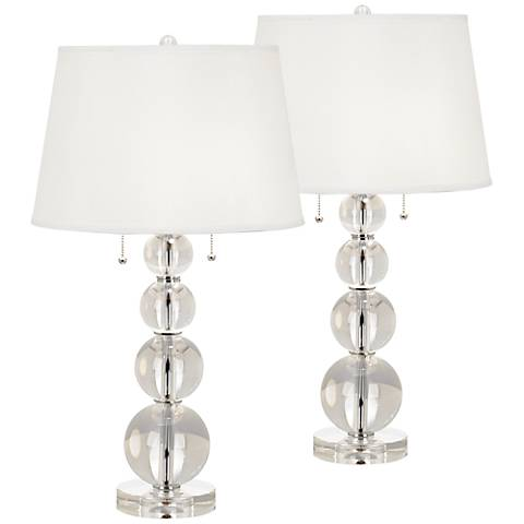 Stacked Crystal Spheres Table Lamp Set of 2