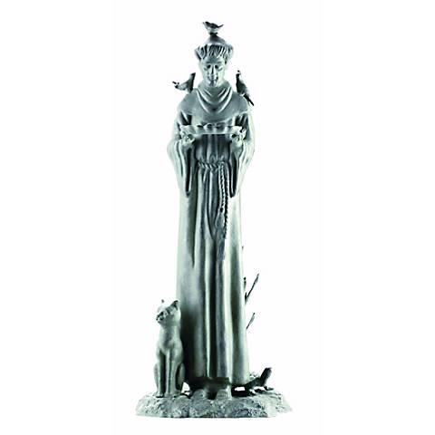 "Verdigris Williamsburg 30"" High St. Francis Garden Statuary"