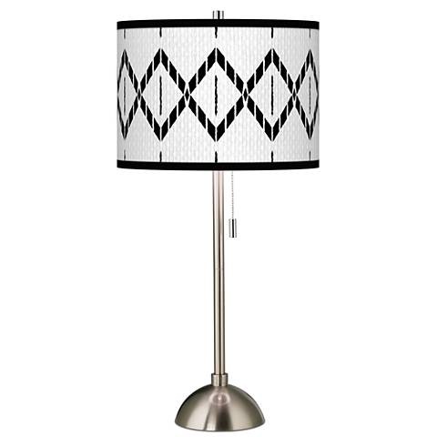 Paved Desert Giclee Brushed Steel Table Lamp