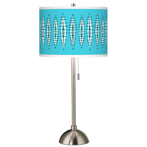 Vibraphonic Bounce Giclee Brushed Steel Table Lamp