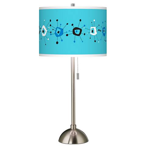 Sputnickle Giclee Brushed Steel Table Lamp