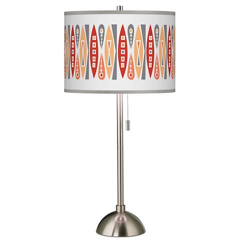 Vernaculis VI Giclee Brushed Steel Table Lamp