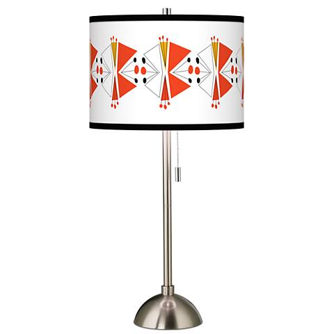 Lexiconic III Giclee Brushed Steel Table Lamp