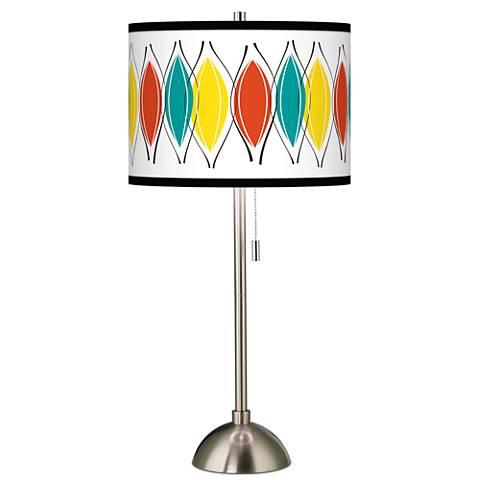 Harmonium Giclee Brushed Steel Table Lamp
