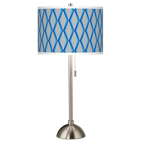 Bleu Matrix Giclee Brushed Steel Table Lamp