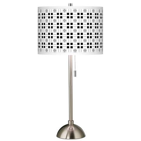 Quadrant Giclee Brushed Steel Table Lamp