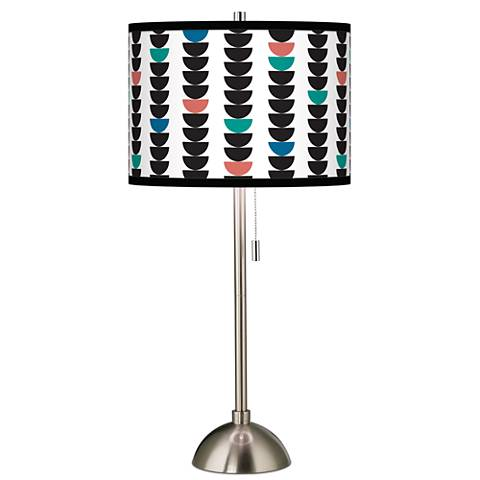 Semi-Dots Giclee Brushed Steel Table Lamp