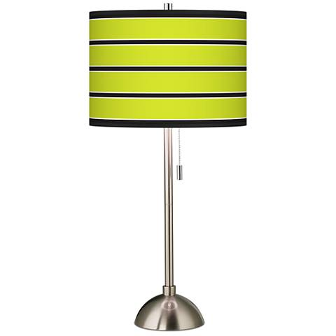 Giclee bold lime green stripe table lamp 60757 23213 lamps plus giclee bold lime green stripe table lamp aloadofball Image collections