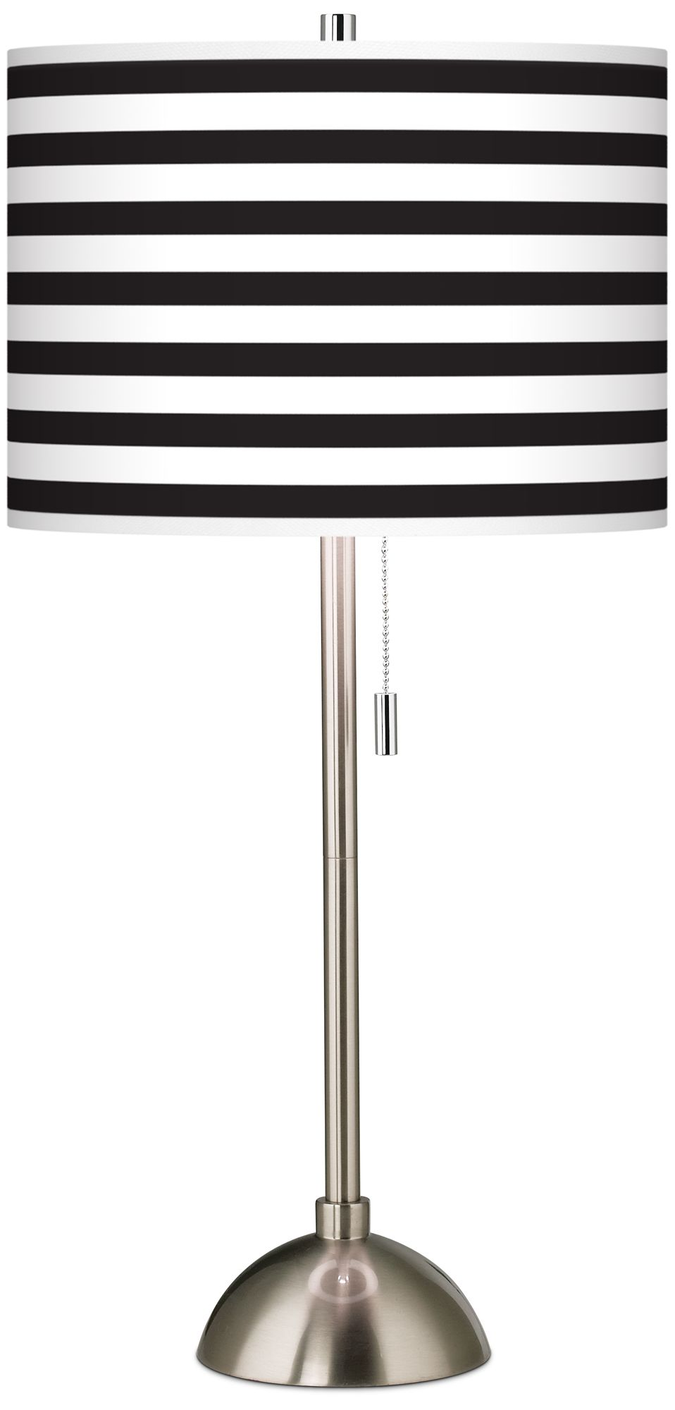 Giclee Black And White Horizontal Stripe Table Lamp