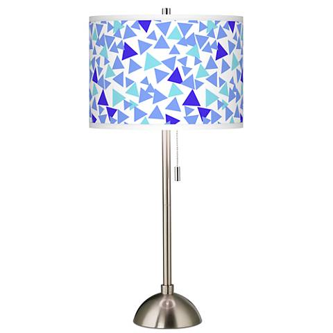 Geo Confetti Giclee Brushed Steel Table Lamp