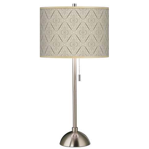 Moroccan Diamonds Giclee Brushed Steel Table Lamp