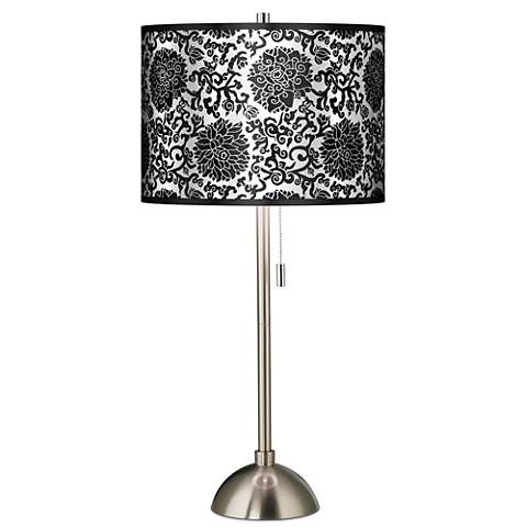 Thomas Paul Blossom Silver Metallic Brushed Steel Table Lamp