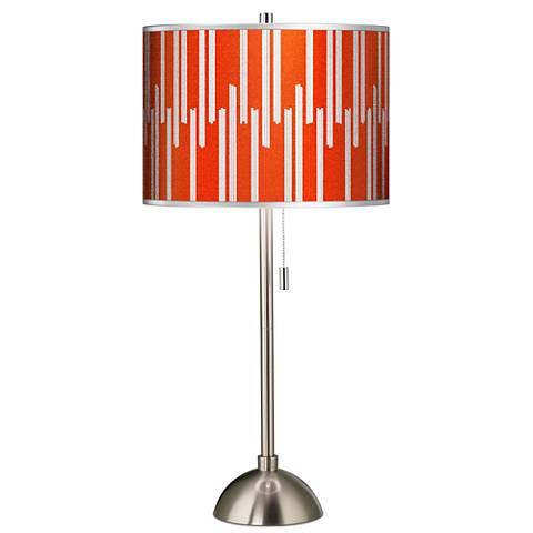 Segments Silver Metallic II Giclee Brushed Steel Table Lamp