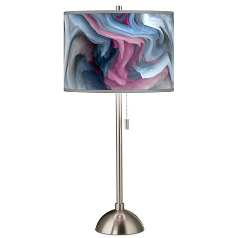 Europa Giclee Brushed Steel Table Lamp