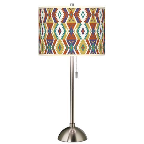 Southwest bohemian giclee brushed steel table lamp 60757 45f40 southwest bohemian giclee brushed steel table lamp aloadofball Choice Image