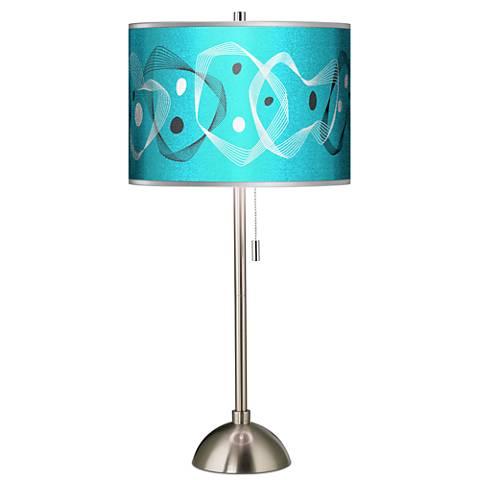 Spirocraft Silver Metallic Giclee Brushed Steel Table Lamp
