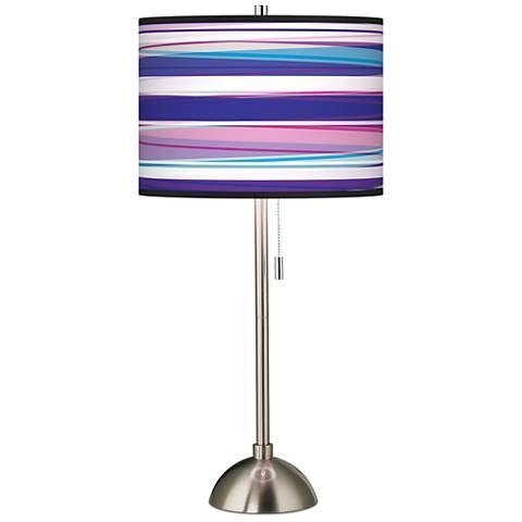 Purple Neon Giclee Shade Table Lamp