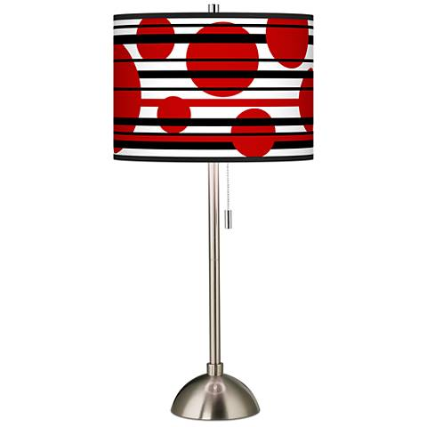 Red balls giclee shade table lamp 60757 58472 lamps plus red balls giclee shade table lamp aloadofball Gallery