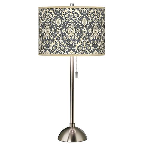 Seedling by thomaspaul Damask Brushed Steel Table Lamp