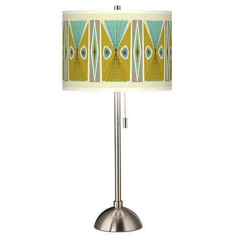 Vernaculis III Giclee Brushed Steel Table Lamp