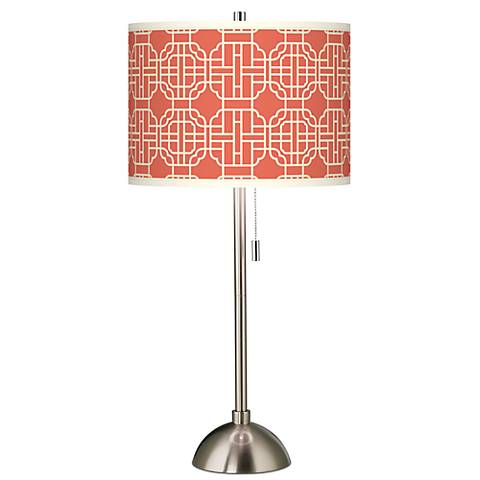 Mandarin Giclee Brushed Steel Table Lamp