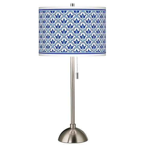 Arabella Giclee Brushed Steel Table Lamp