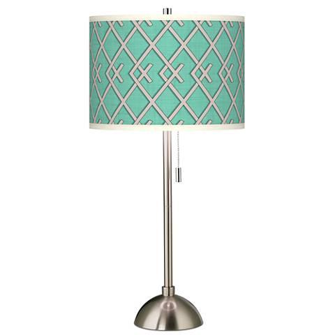 Crossings Giclee Brushed Steel Table Lamp